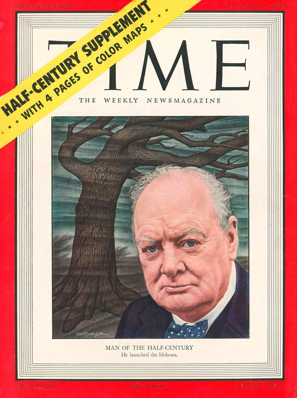 1949 год. Британский премьер Уинстон Черчилль на обложке Time