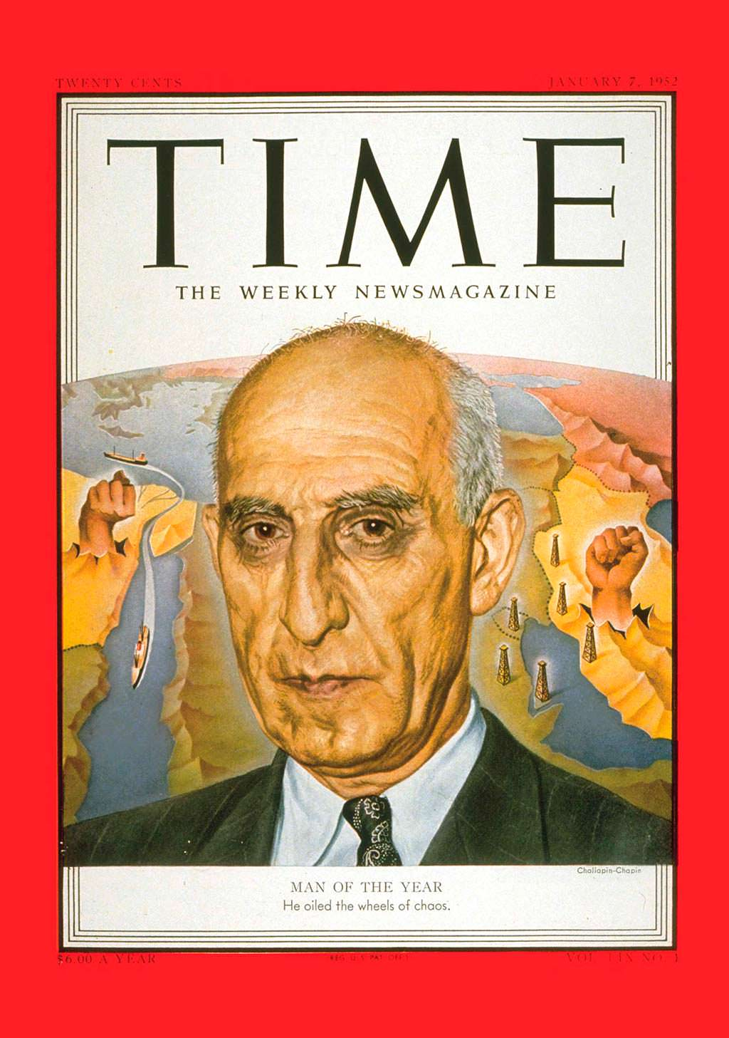 1951 год. Премьер Ирана Мохаммед Мосаддык на обложке Time