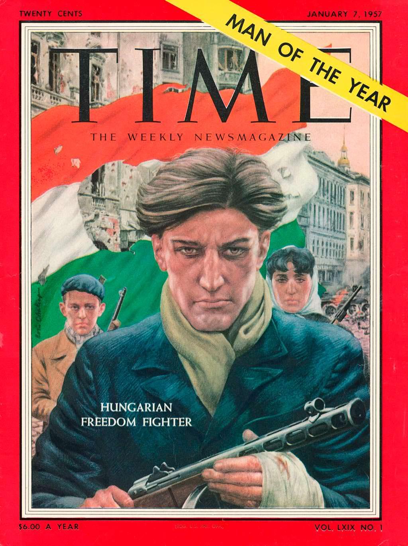 1956 год. Венгерский борец за свободу на обложке Time