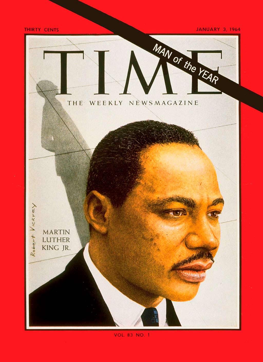 1963 год. Оратор Мартин Лютер Кинг на обложке Time