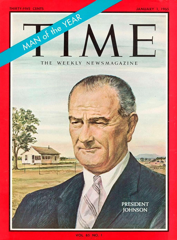 1964 год. 36-й президент США Линдон Джонсон на обложке Time