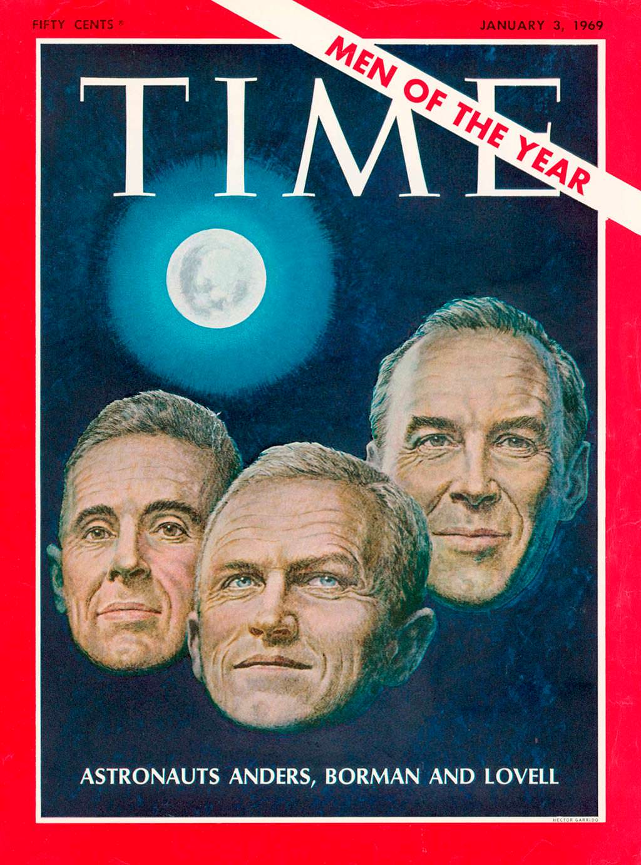1968 год. Астронавты «Аполлона-8» на обложке Time