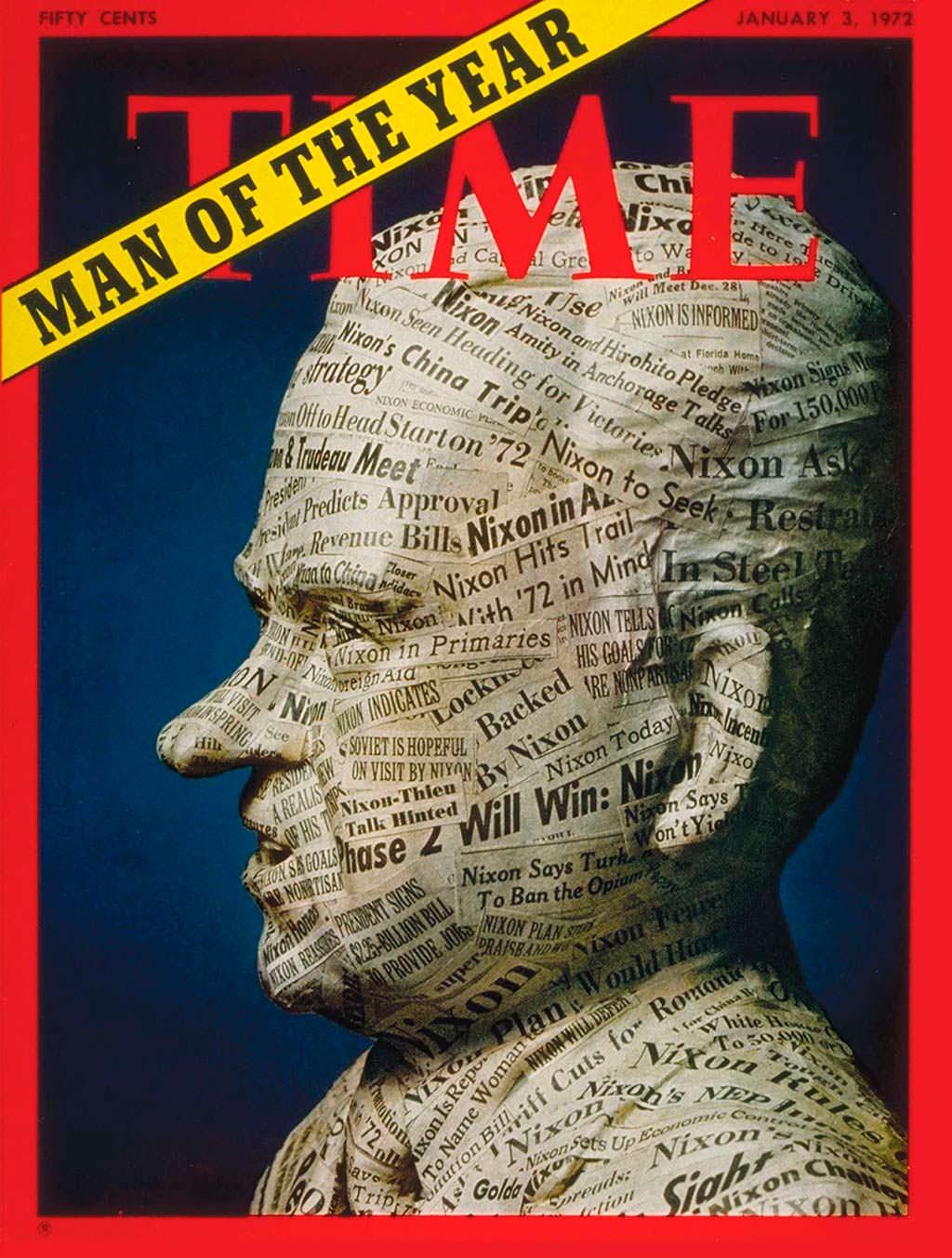 1971 год. 37-й президент США Ричард Никсон на обложке Time