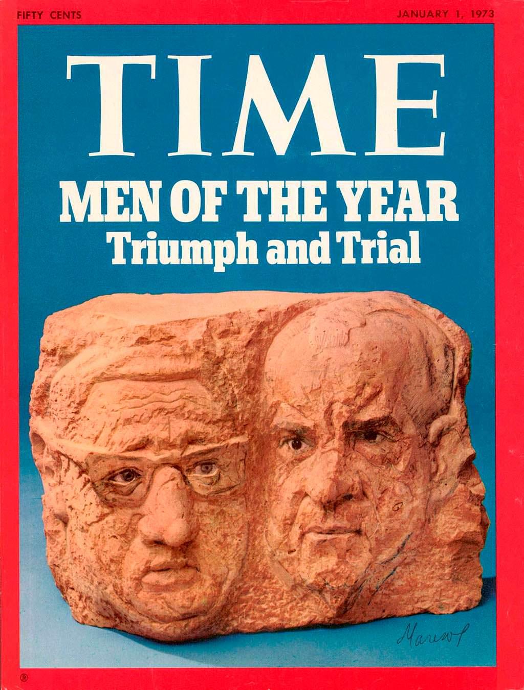1972 год. Ричард Никсон и Генри Киссинджер на обложке Time