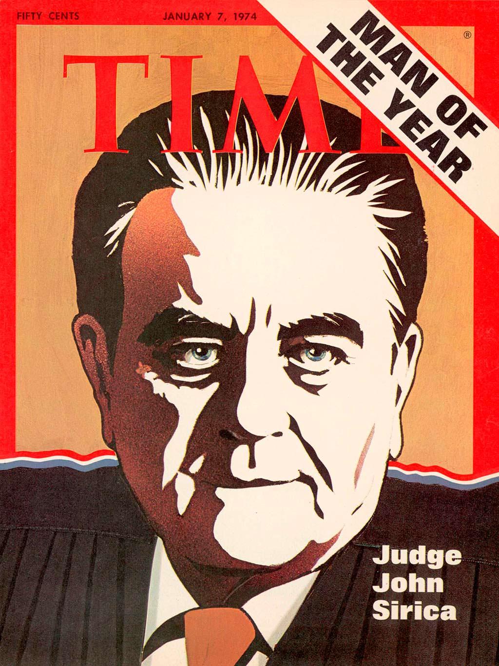 1973 год. Американский судья Джон Сирика на обложке Time