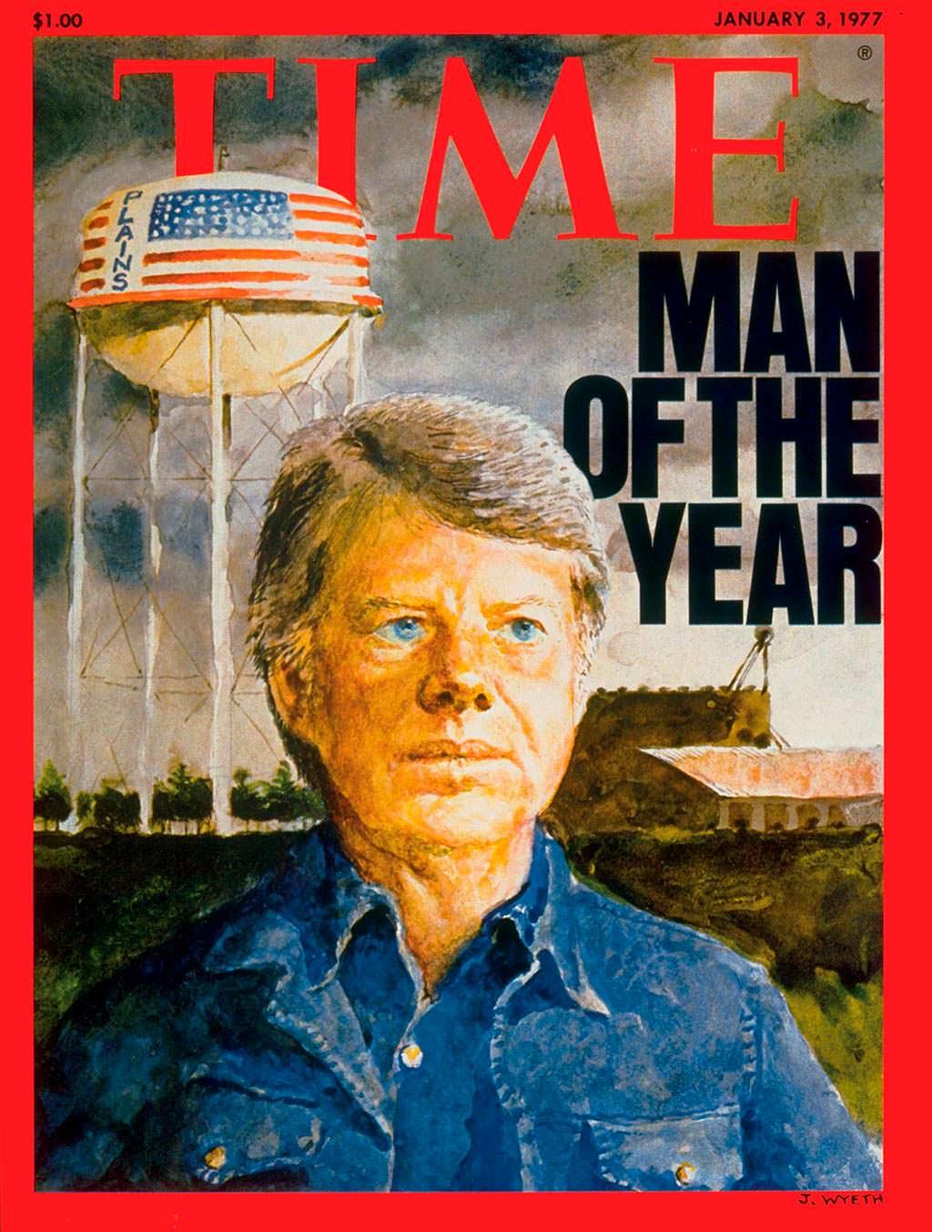 1976 год. 39-й президент США Джимми Картер на обложке Time
