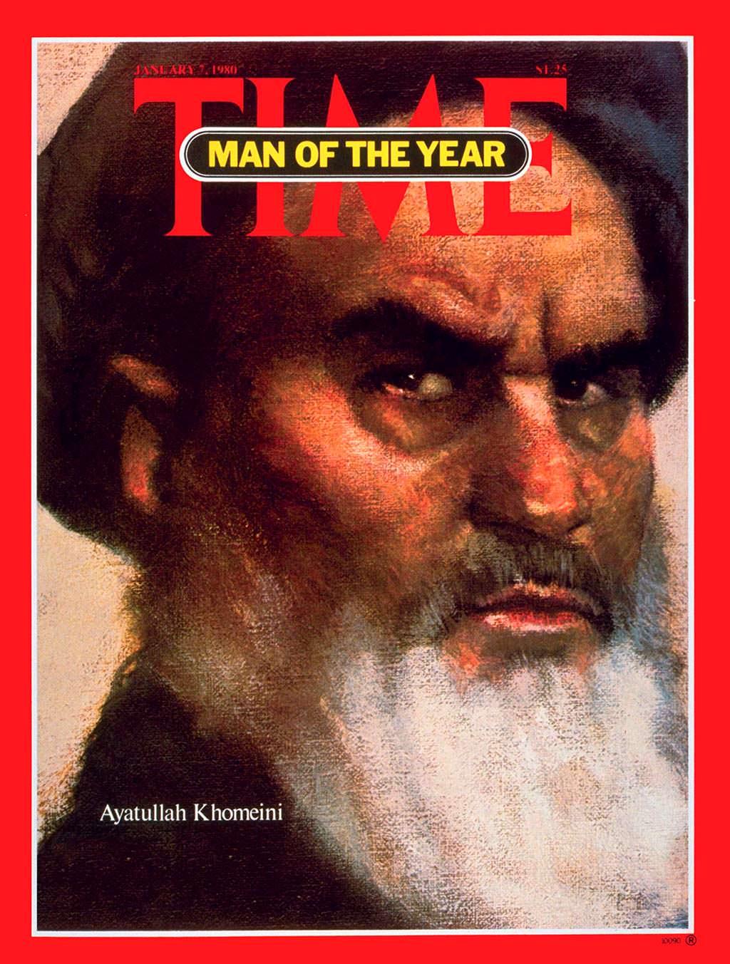 1979 год. Лидер исламской революции Аятолла Хомейни на обложке Time