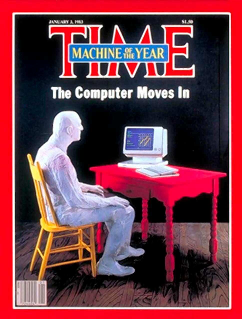 1982 год. Персональный компьютер на обложке Time
