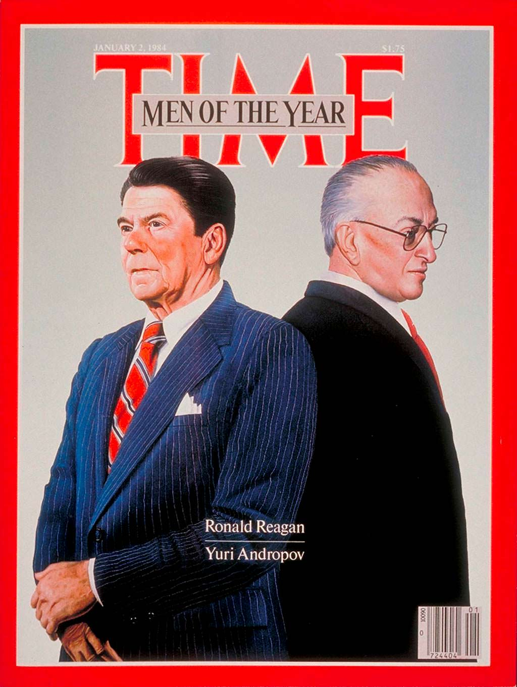 1983 год. Рональд Рейган и Юрий Андропов на обложке Time