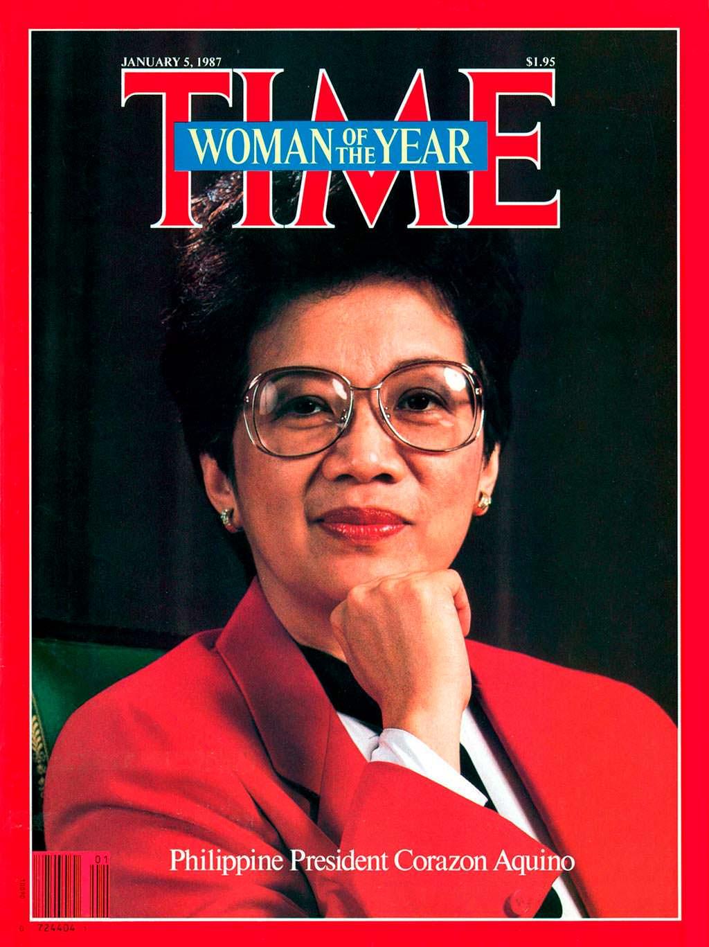 1986 год. Президент Филиппин Корасон Акино на обложке Time
