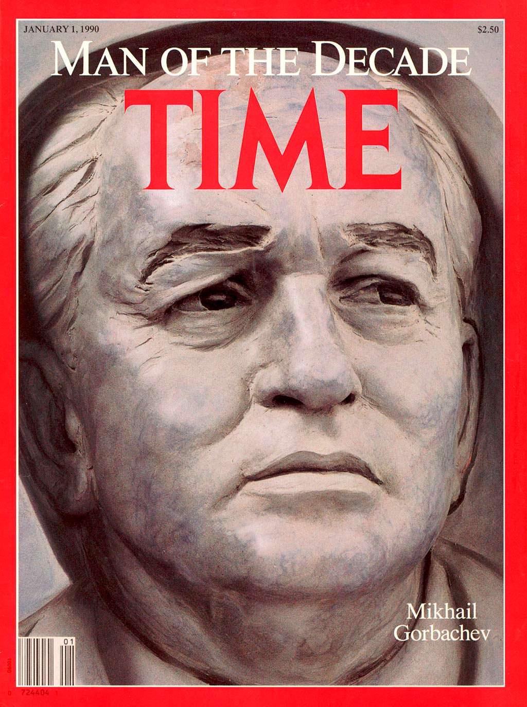 1989 год. Человек десятилетия Михаил Горбачёв на обложке Time
