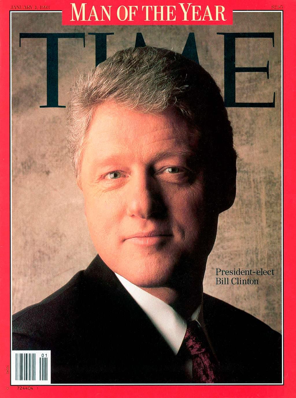1992 год. 42-й президент США Билл Клинтон на обложке Time
