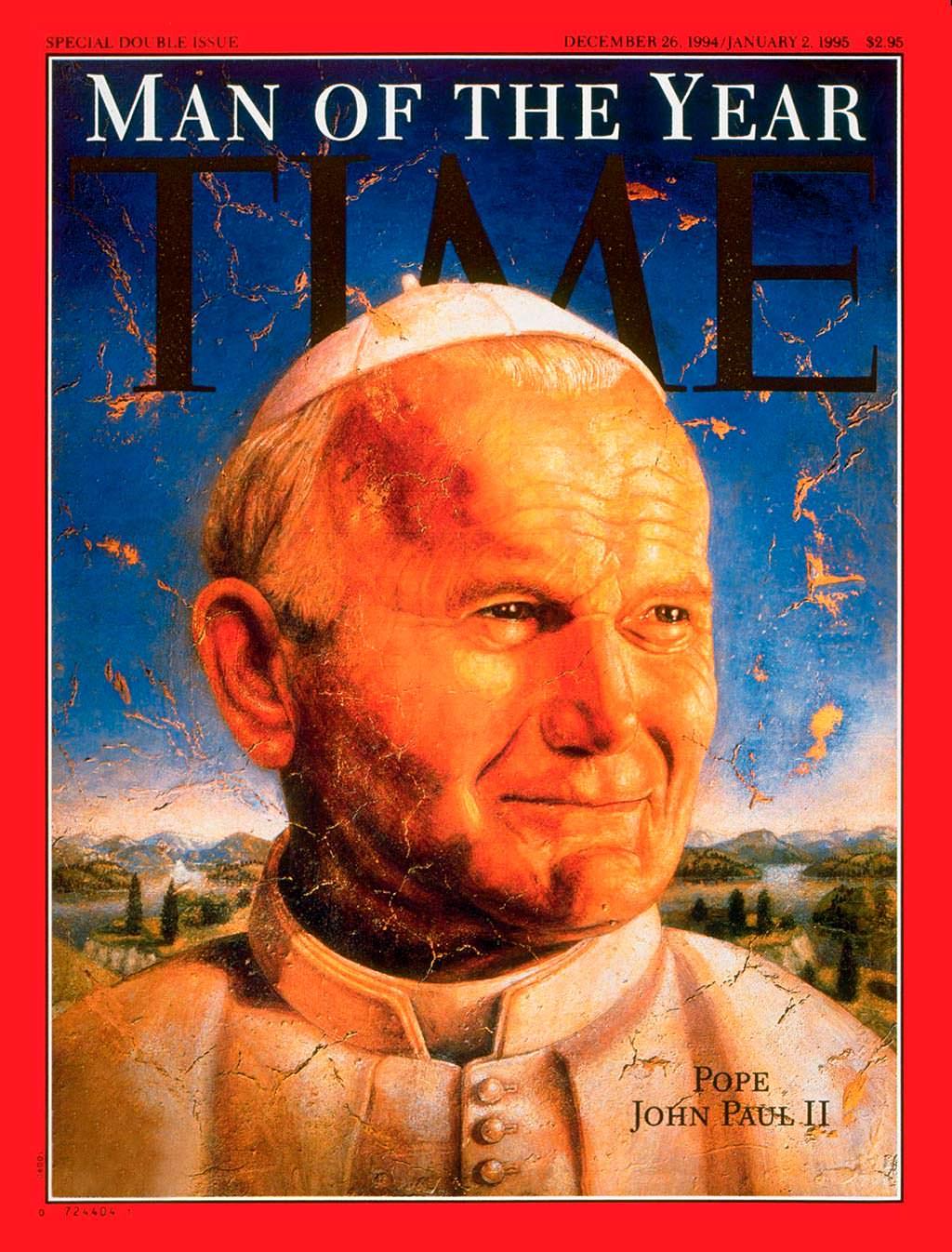1994 год. Папа Римский Иоанн Павел II на обложке Time