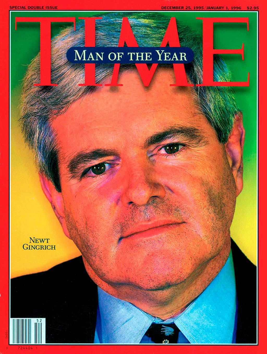 1995 год. Американский политик Ньют Гингрич на обложке Time