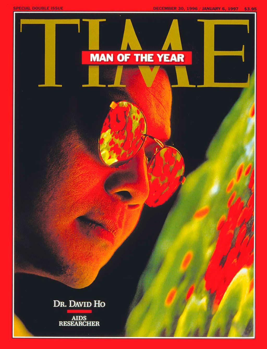 1996 год. Учёный исследователь ВИЧ Дэвид Хо на обложке Time