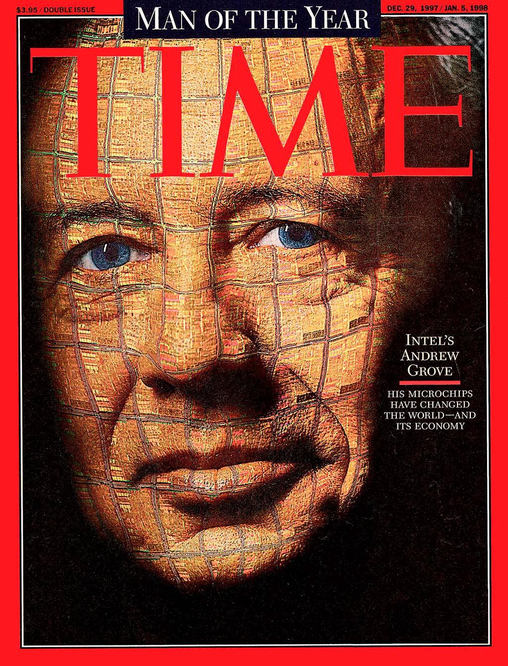 1997 год. Гендиректор Intel Эндрю Гроув на обложке Time