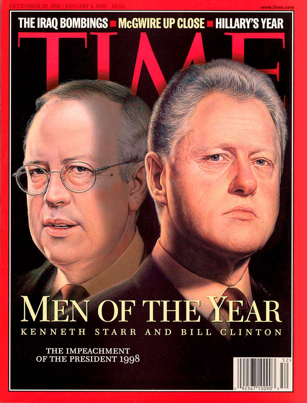 1998 год. Билл Клинтон и Кеннет Стар на обложке Time