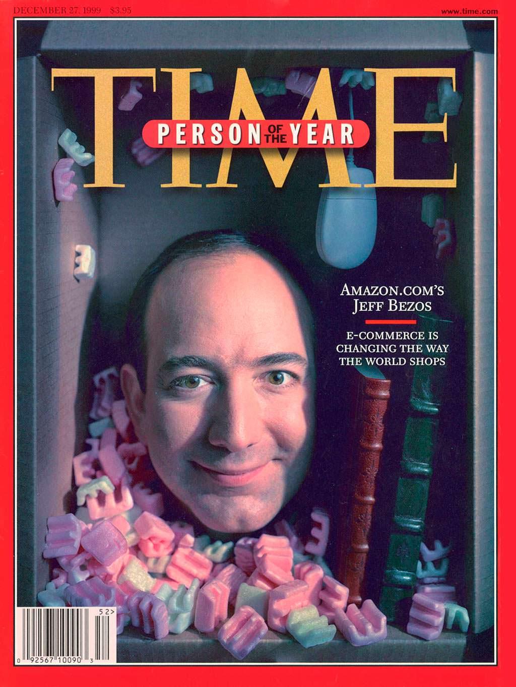 1999 год. Основатель Amazon.com Джефри Бэзос на обложке Time