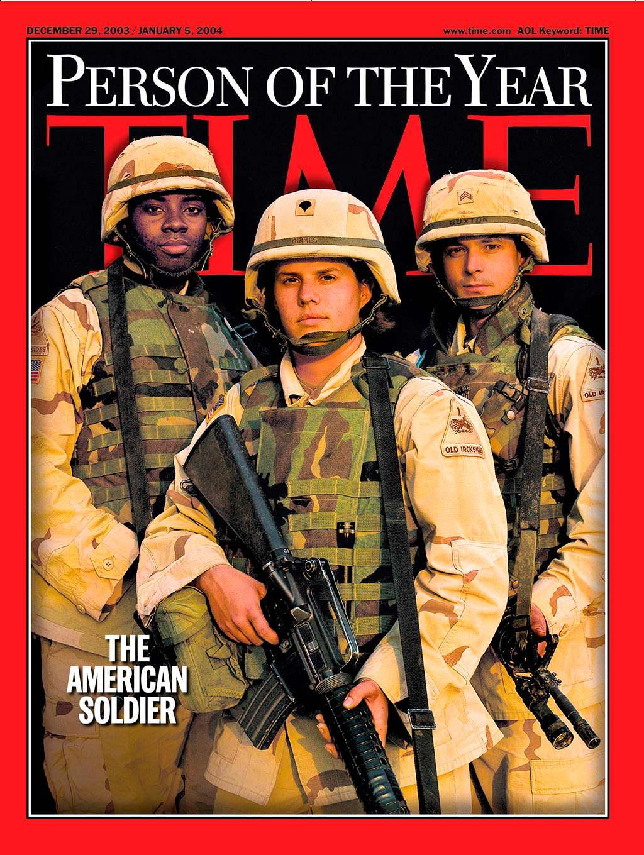 2003 год. Американский солдат на обложке Time