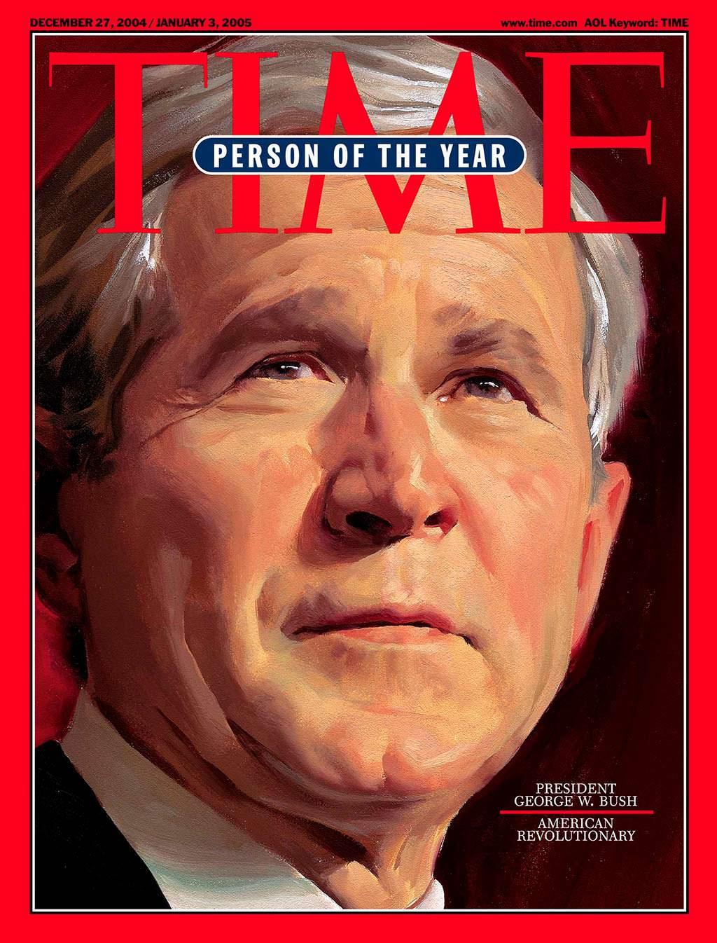 2004 год. Президент Джордж Буш-младший на обложке Time