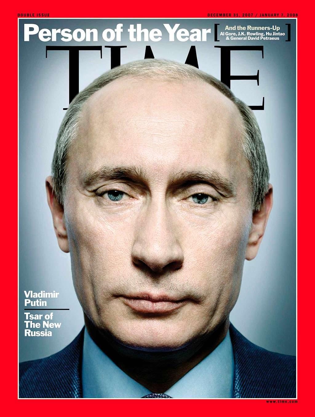 2007 год. Президент России Владимир Путин на обложке Time