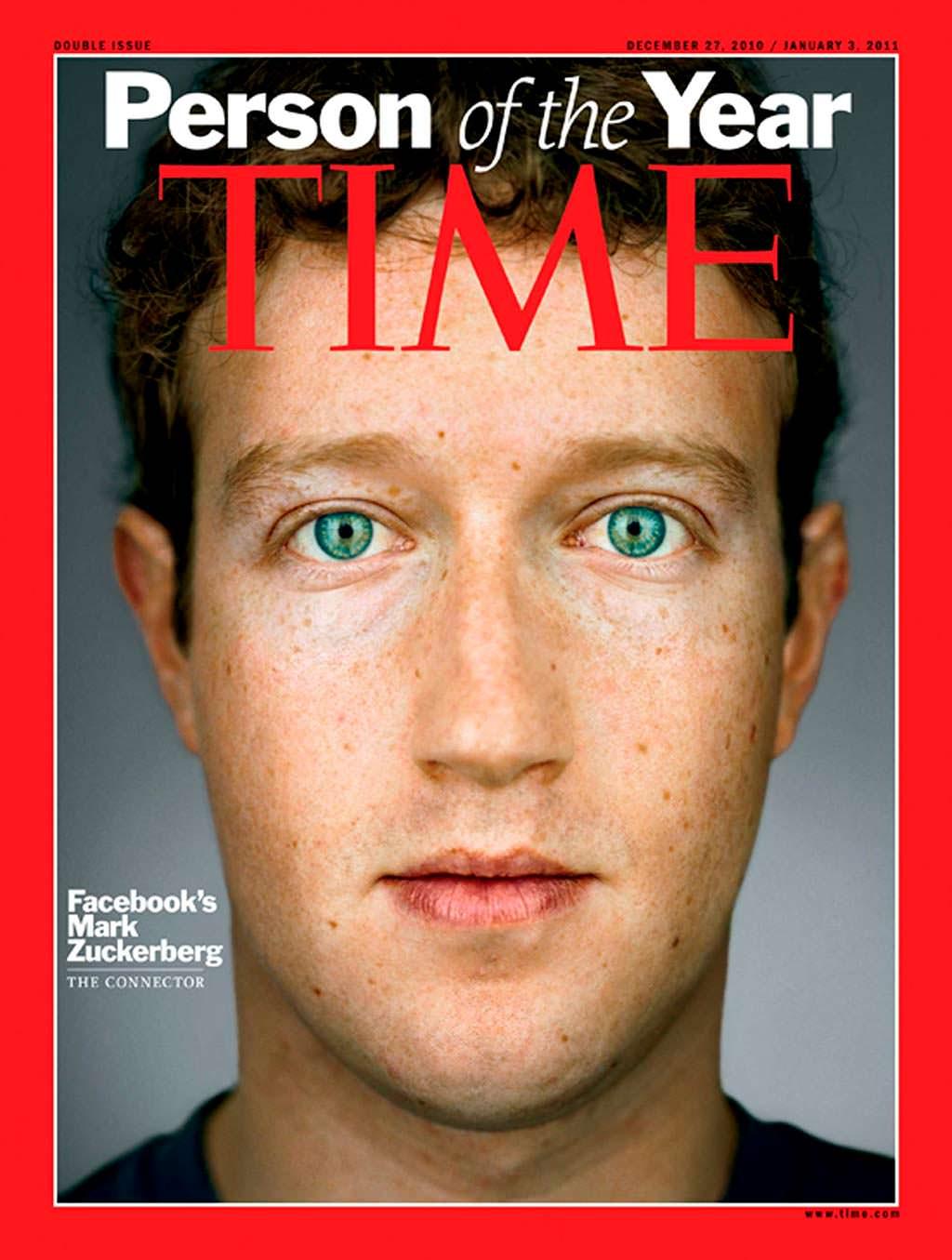2010 год. Основатель Facebook Марк Цукерберг на обложке Time