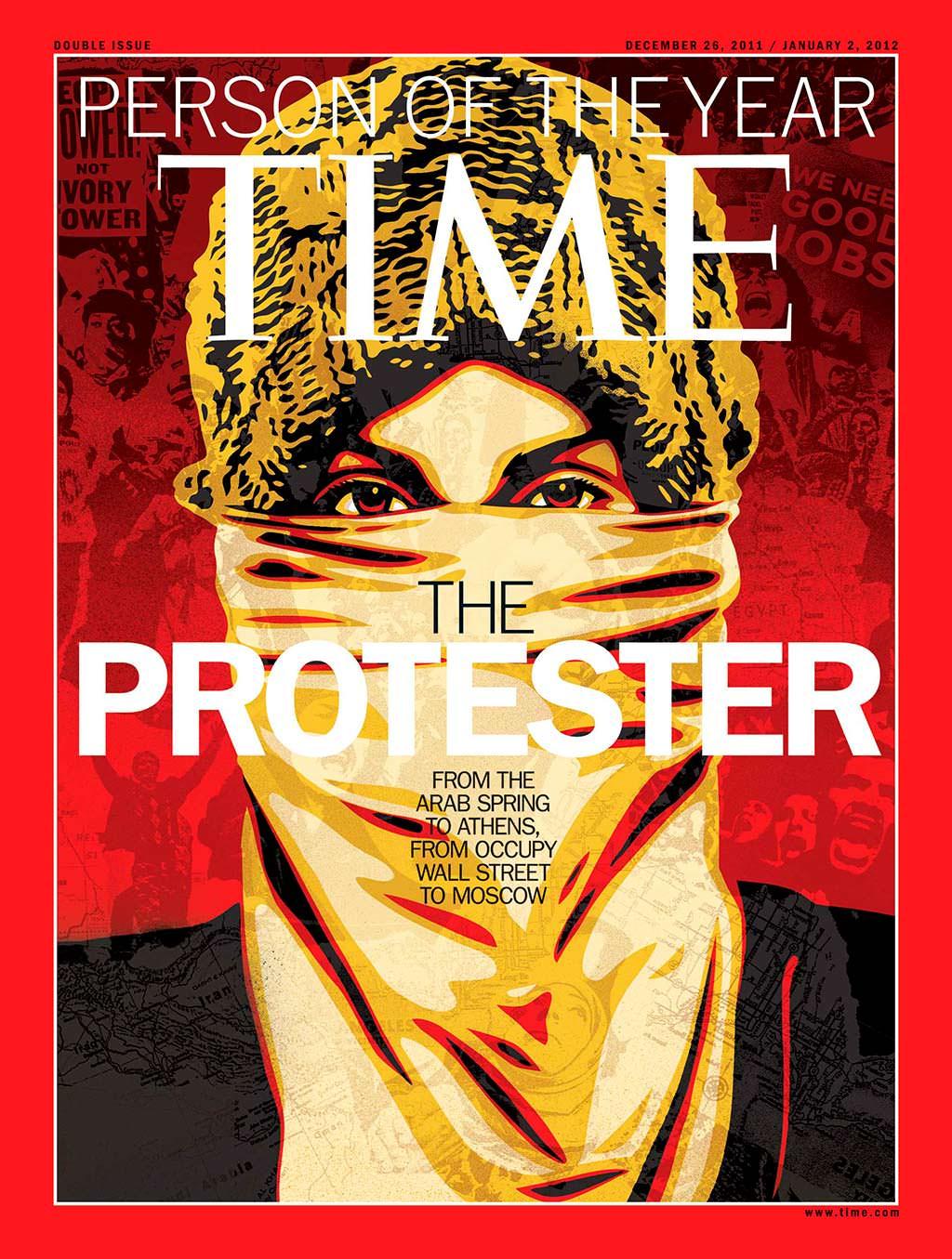 2011 год. Протестующий на обложке Time