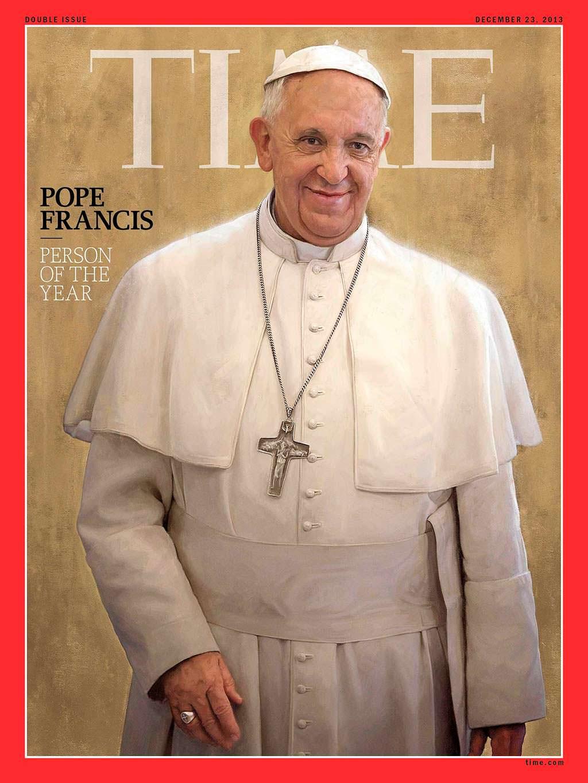 2013 год. Отреченный Папа Римский Франциск на обложке Time