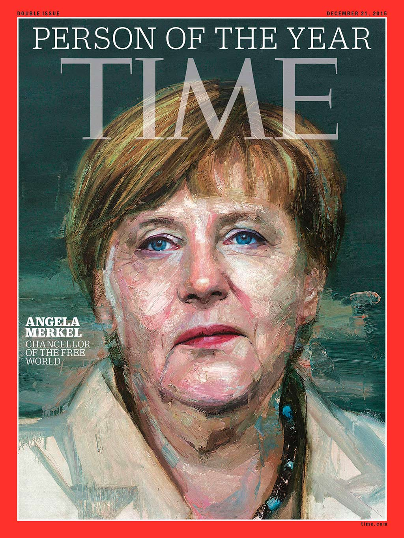 2015 год. Канцлер Германии Ангела Меркель на обложке Time