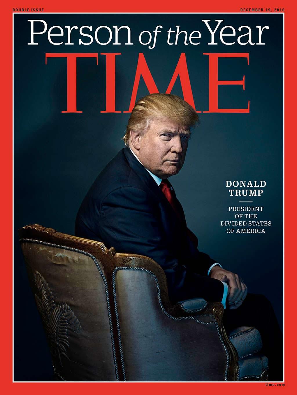 2016 год. 45-й президент США Дональд Трамп на обложке Time