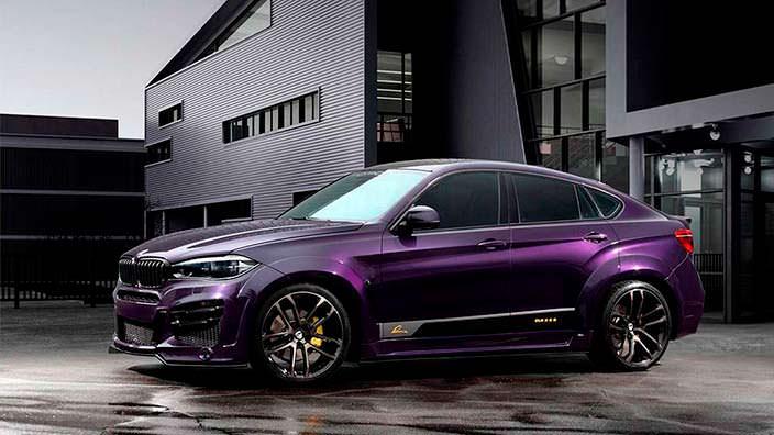 Фиолетовый BMW X6 R от TopCar