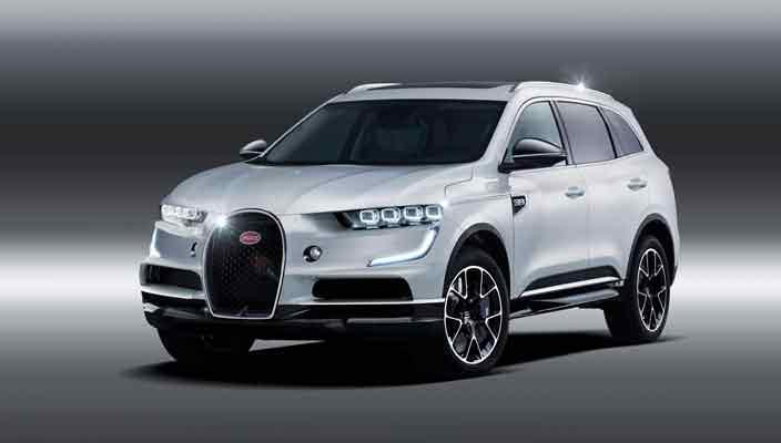 Внедорожник Bugatti в дизайне гиперкара Chiron. Неофициально