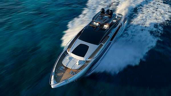 Яхта Ferretti Riva 90. Длина почти 30 метров