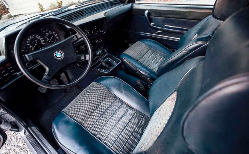 Кожаный салон BMW 633