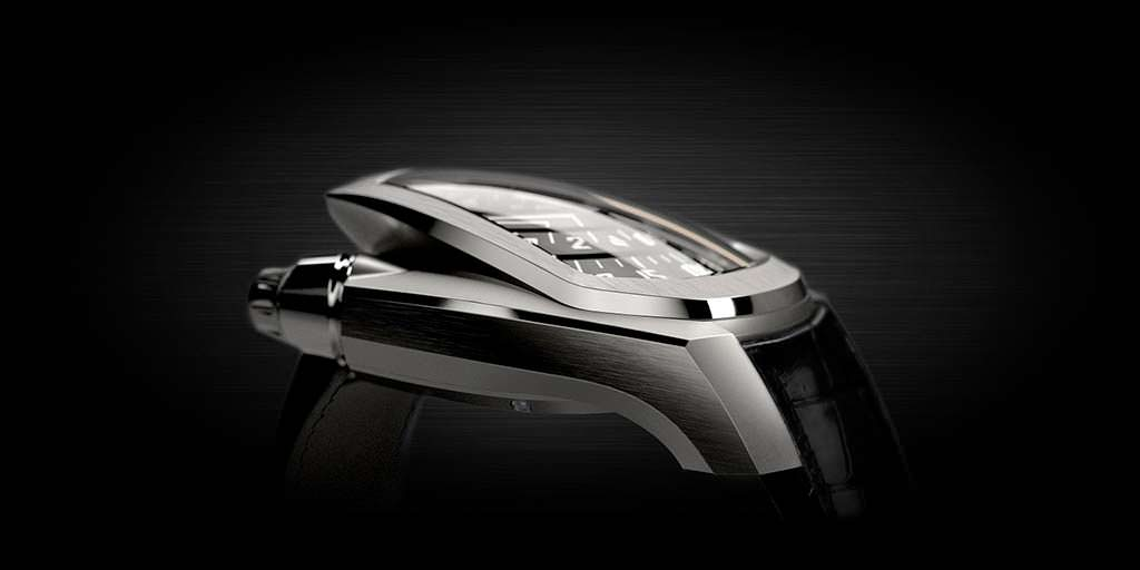 Ретроградные часы Phenomen Axiom в стиле hi-tech
