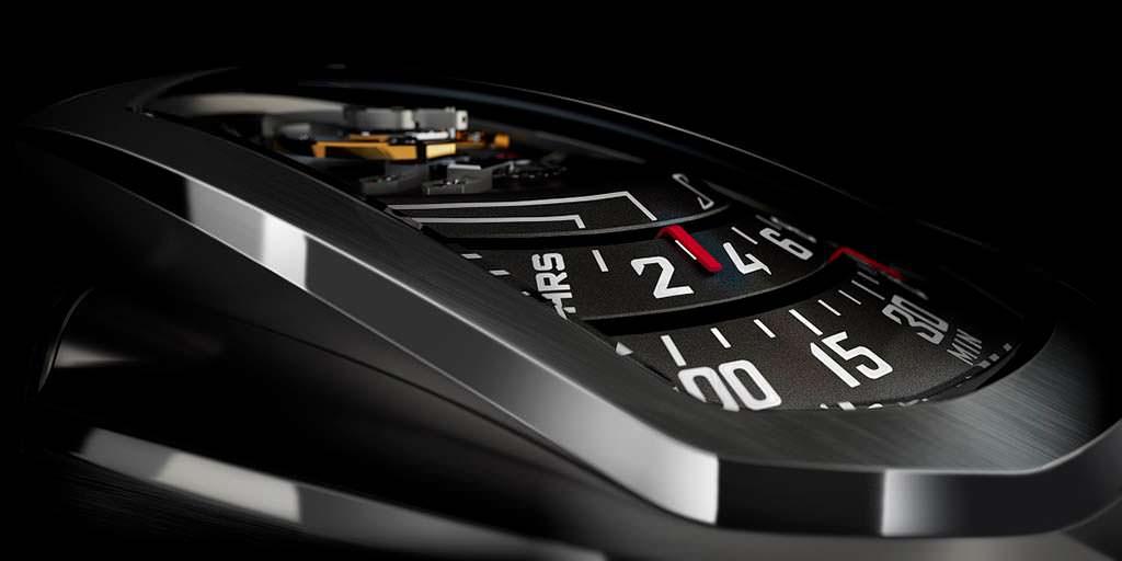Ретроградный циферблат часов Phenomen Axiom в стиле hi-tech