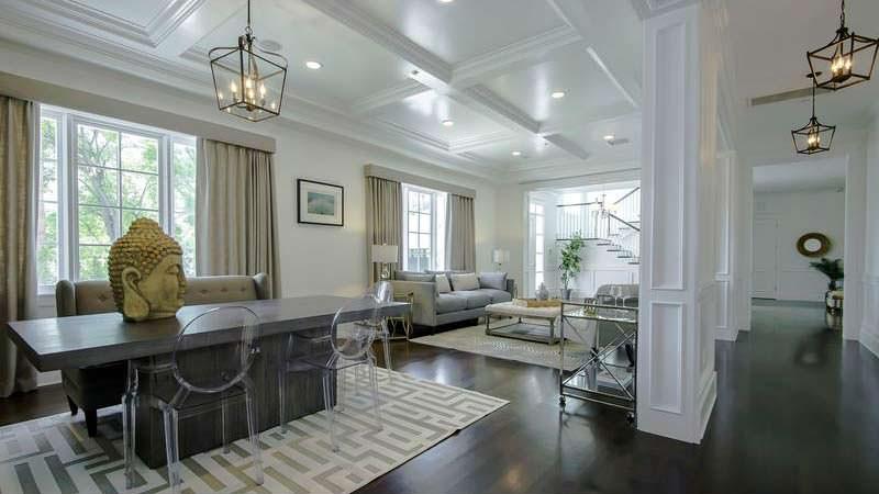 Дизайн столовой гостиной в доме