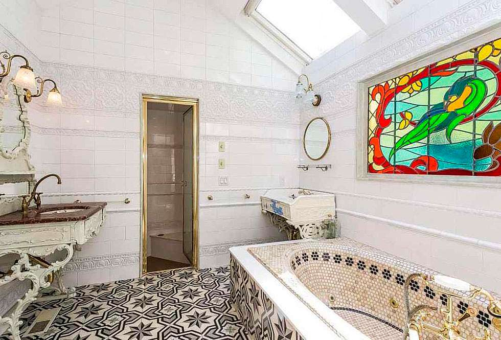 Ванная комната с французской мозаикой