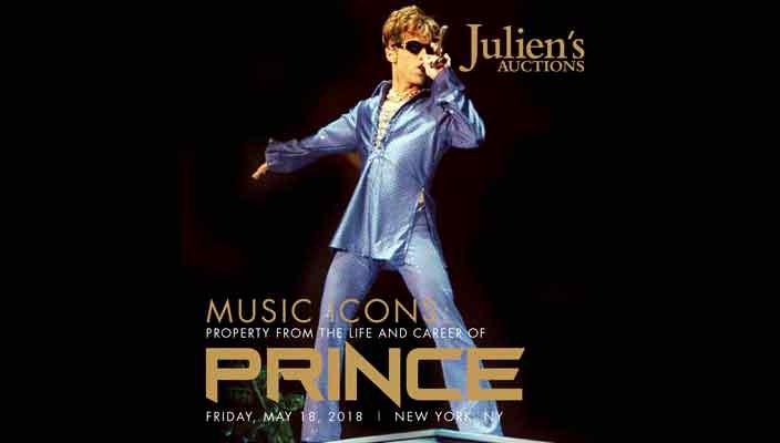 Личные вещи Принса продадут на торгах Julien's Auctions