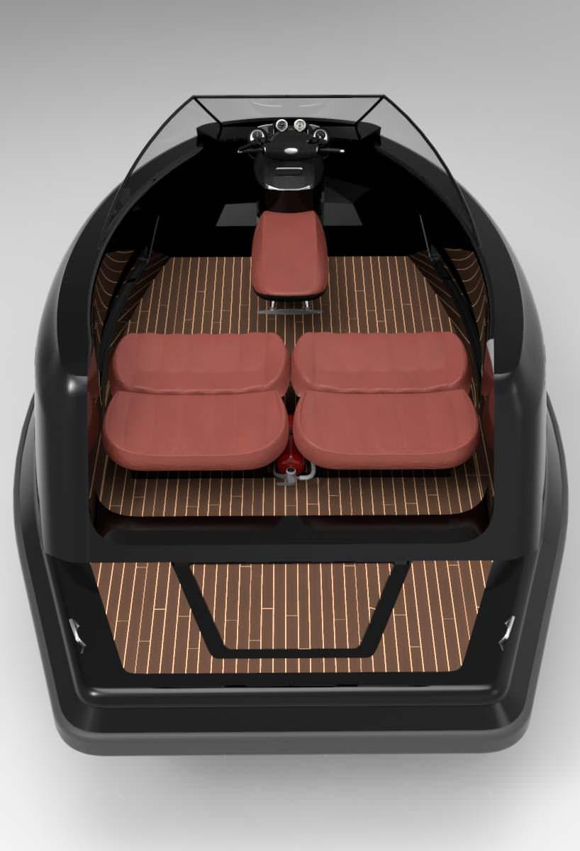 Салон катера Jet Mini