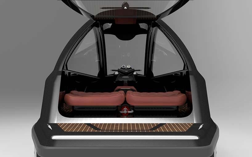 Компактный катер Jet Mini: салон на 5 пассажиров