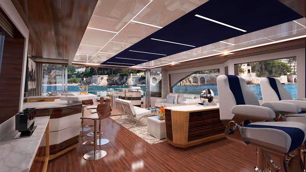Салон яхты Ocean Alexander 90