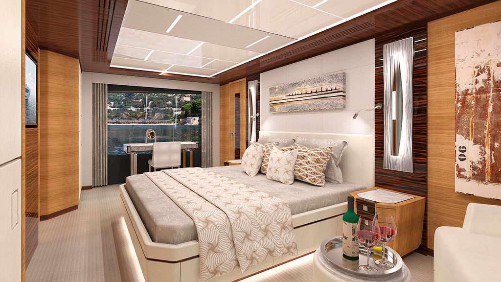 Мастер-каюта яхты Ocean Alexander 90