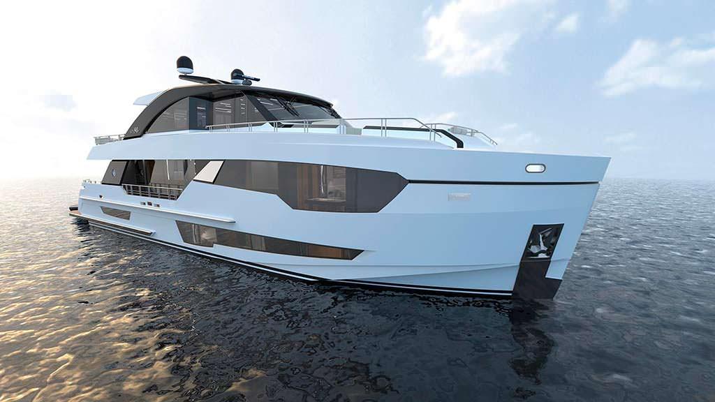 Новая яхта Ocean Alexander 90. Длина 27 метров