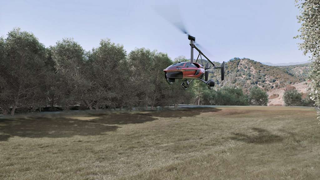 Летающий автомобиль PAL-V Liberty трансформируется в автожир