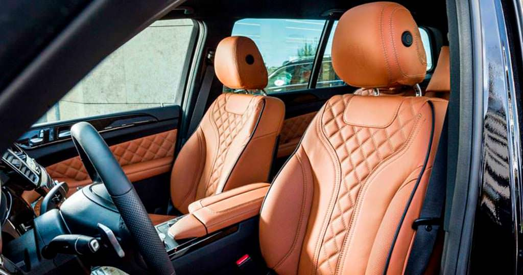 Кожа наппа в салоне Mercedes-Benz GLS от Hofele Design