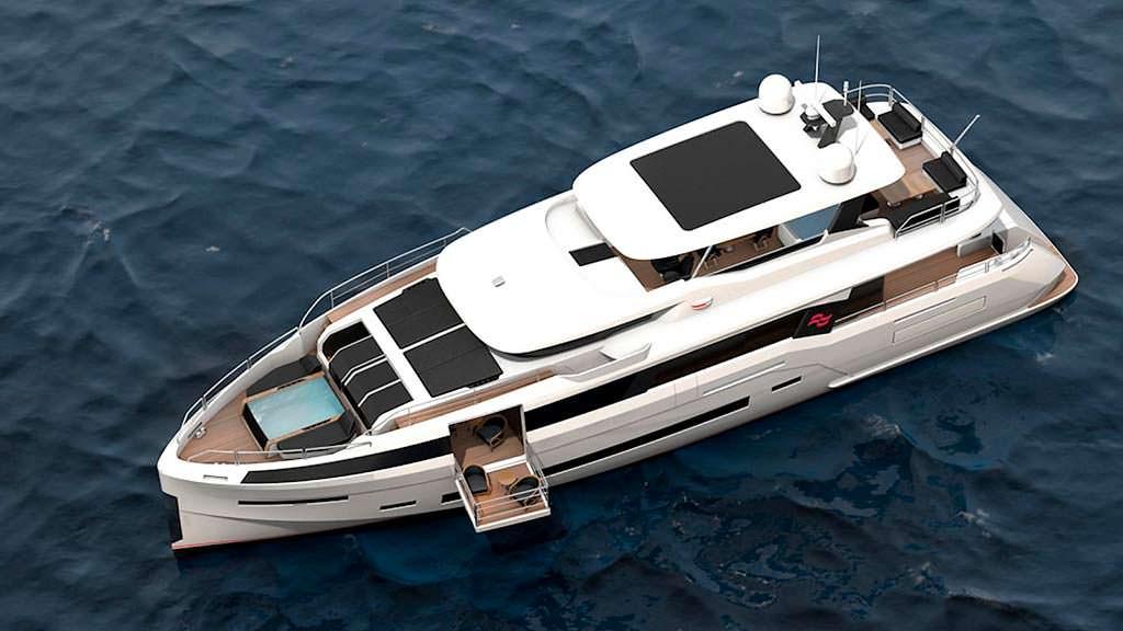 Каюта с раскладным балконом на яхте Sirena 85