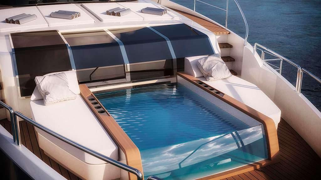 Бассейн на яхте Sirena 85