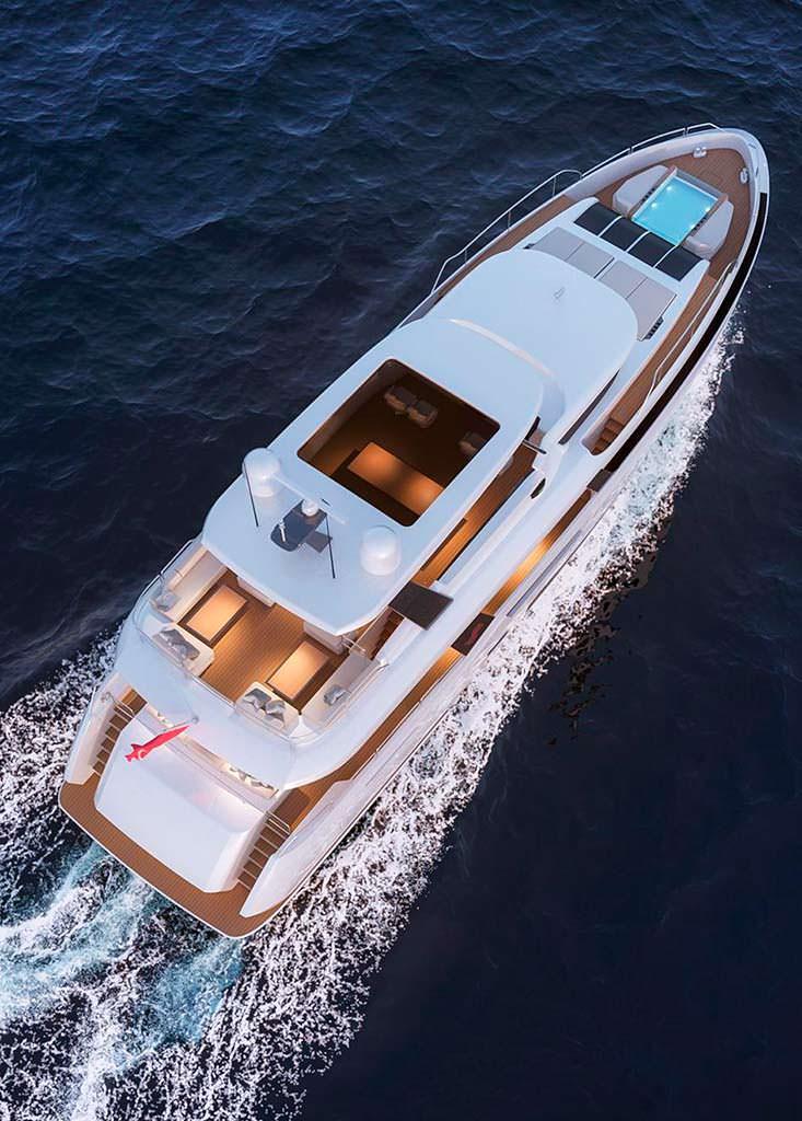 Турецкая яхта Sirena 85. Длина 26,74-метра
