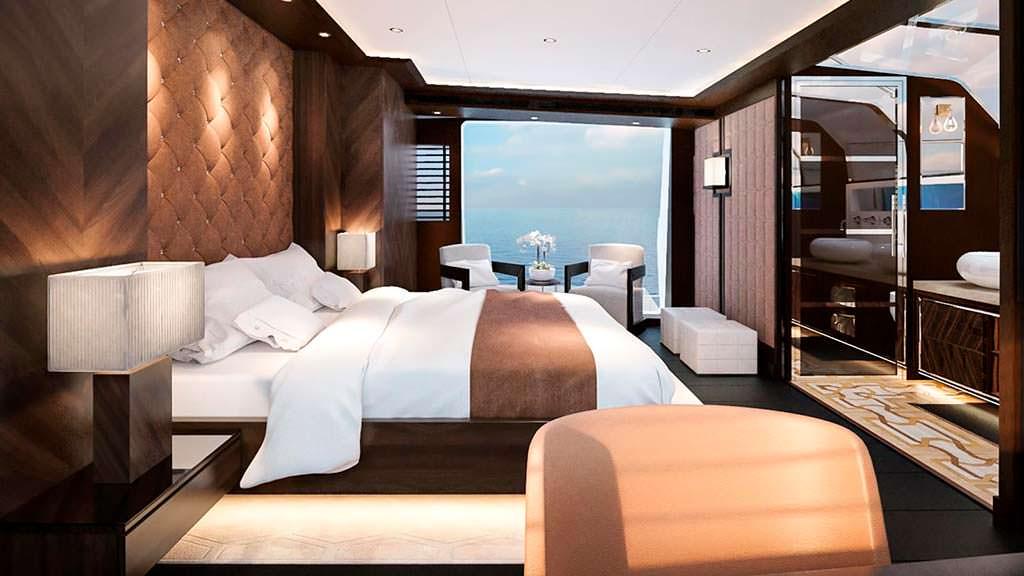 Дизайн интерьера каюты на яхте Sirena 85